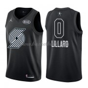 Portland Trail Blazers Damian Lillard 0# Svart 2018 All Star Game NBA Basketlinne..